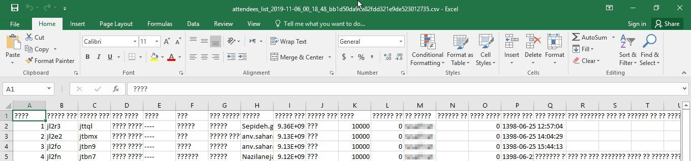 تبدیل فایل اکسل به csv و مشکل Encoding فارسی