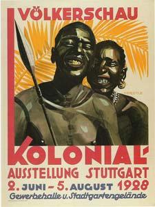 تصویر پوستر یک باغوحش انسانی در شهر اشتوتگارت آلمان