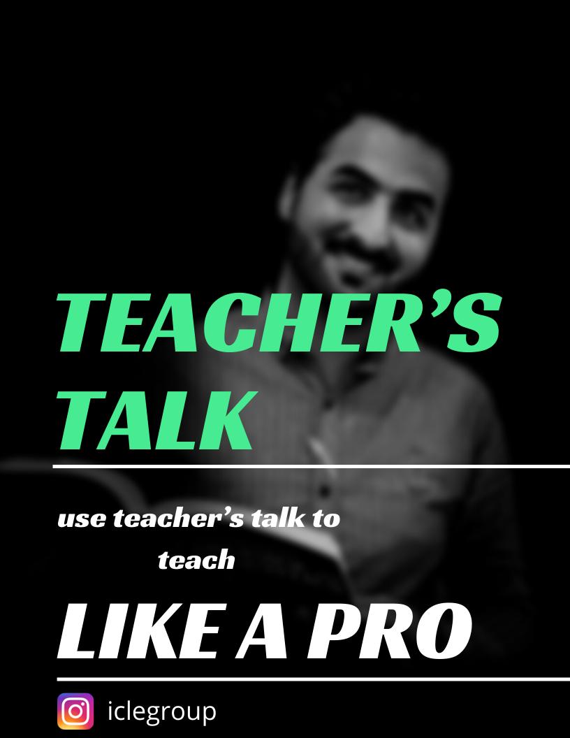 نکته ای برای معلمان زبان 2