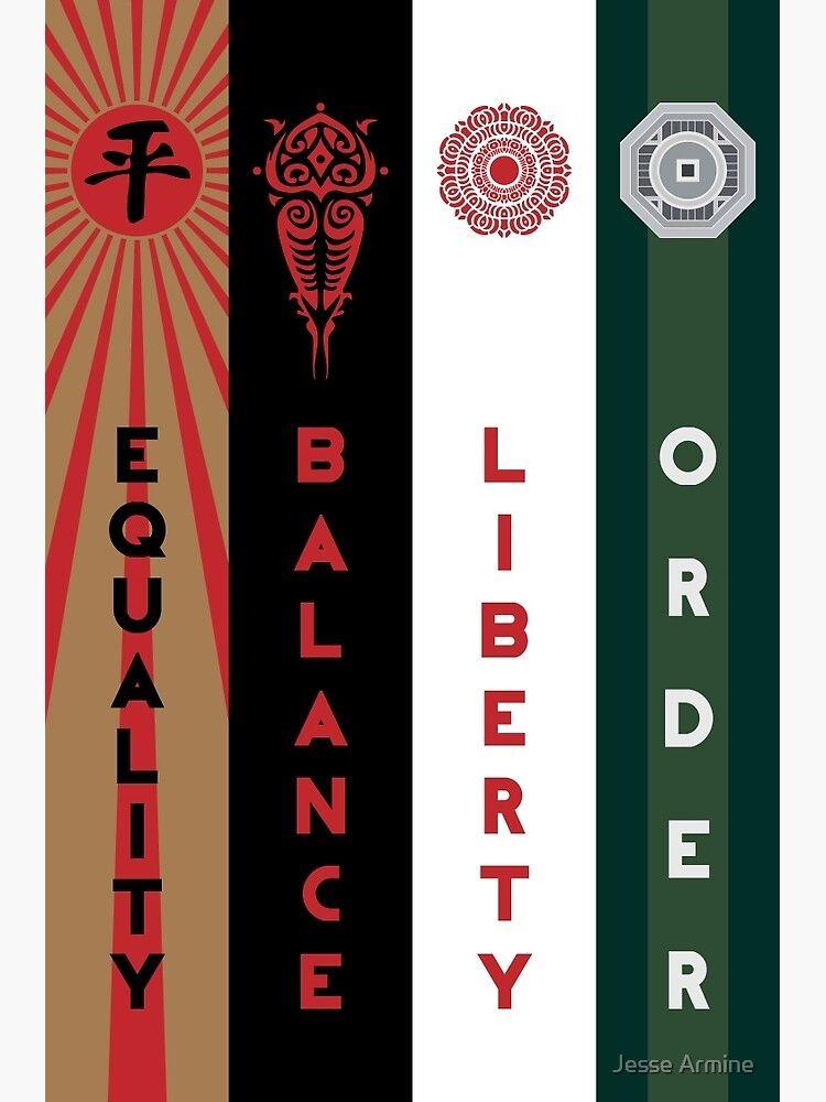 نماد ضدقهرمانهای هر فصل (ترتیب: از چپ به راست)