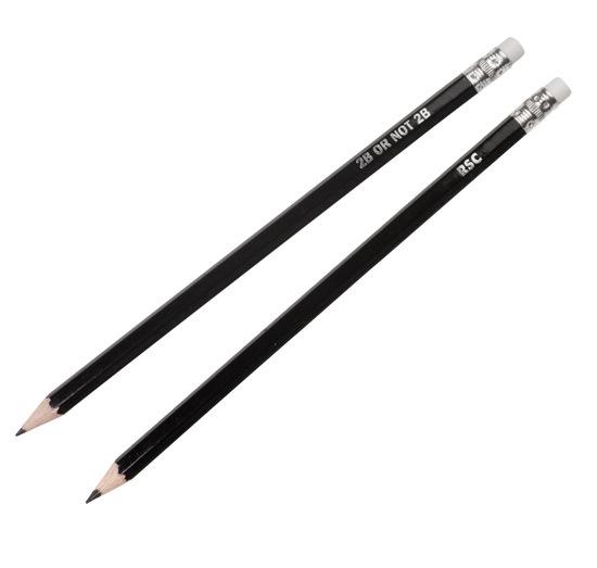 دو مداد سیاه