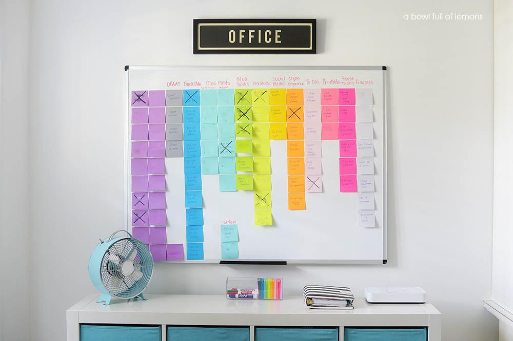 تخته رنگی و جادویی برنامه ریزی در دفتر کار شما