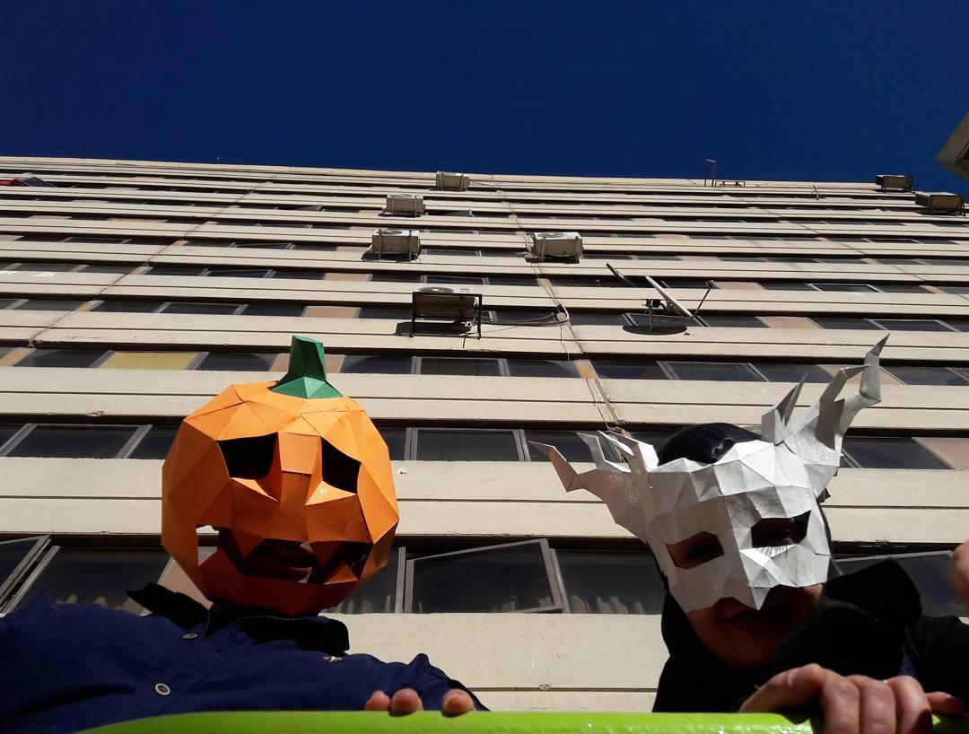 ماسک های ویژه هالوین کاغذقیچی