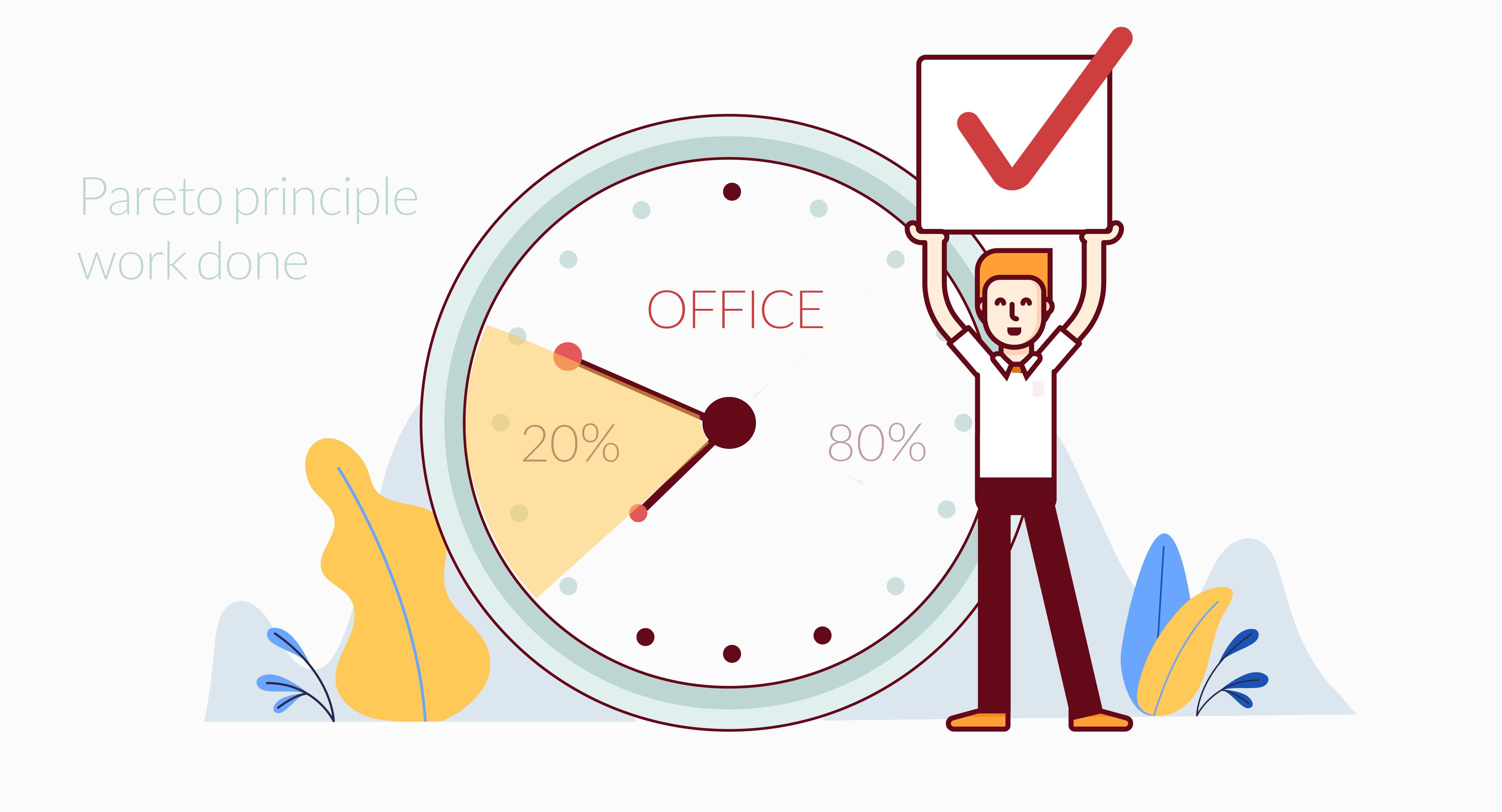 با اصل 20/80 برنامه ریزی محیط کار خود را اثربخش تر کنید