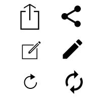 نمادهای iOS و Google Android