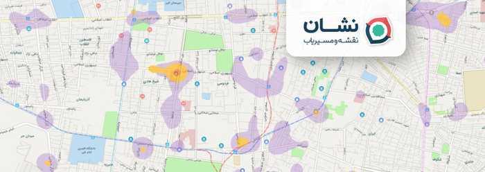 نواحی پرتردد عابران پیاده در شهرها را به «نشان» اضافه کردیم