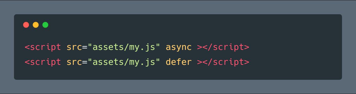 خاصیت async و defer در تگ Script