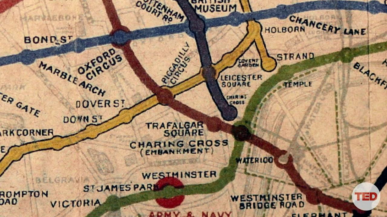 نقشه قدیمی مترو لندن