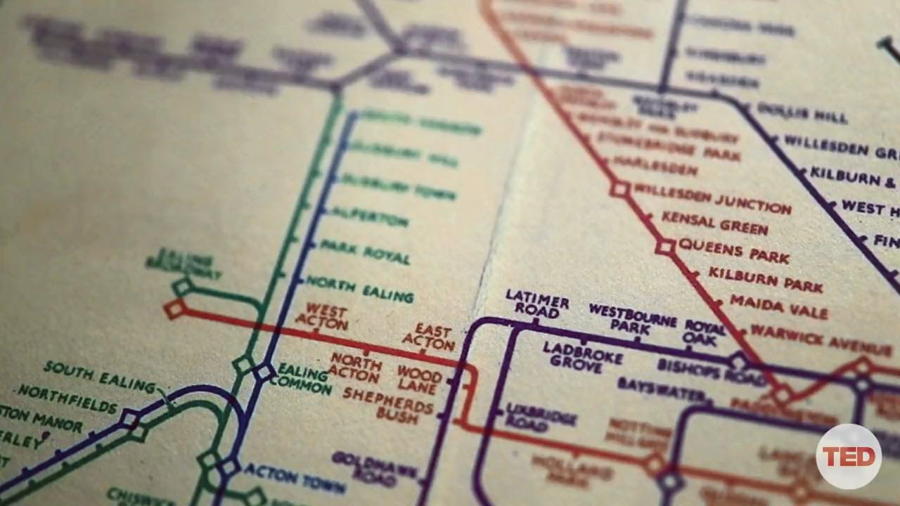 نمایی از نقشه جدید مترو لندن