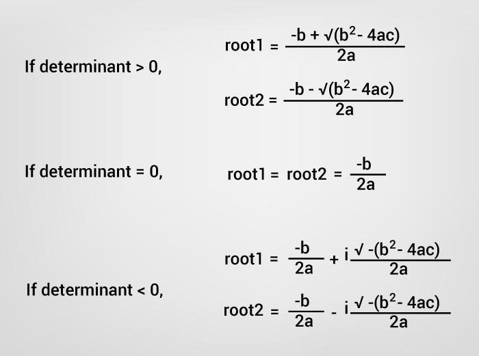 برنامه محاسبه ریشه های معادله درجه ۲ در جاوا