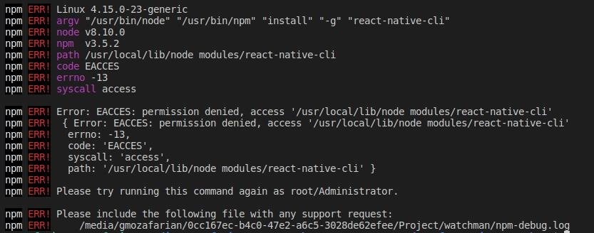 نصب React Native بر روی لینوکس
