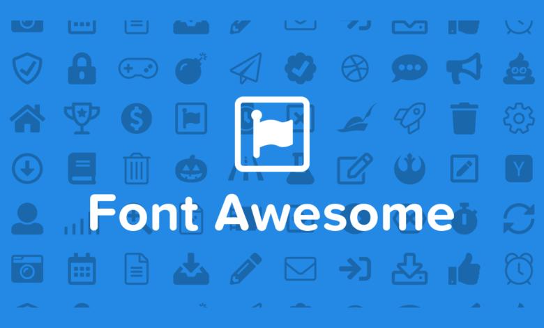 سایت Font Awesome