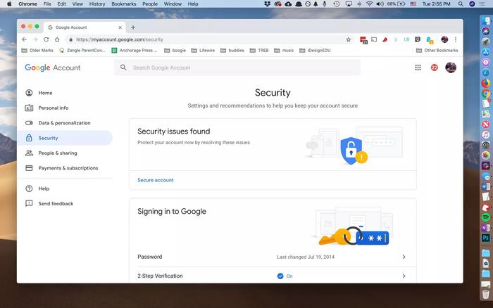 استفاده از App Passwords برای مثال گوگل