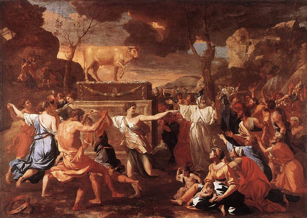 پرستش گوسالهی سامری اثر نیکولا پوسن