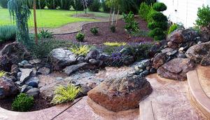 ایده هایی برای محوطه سازی با تخته سنگ