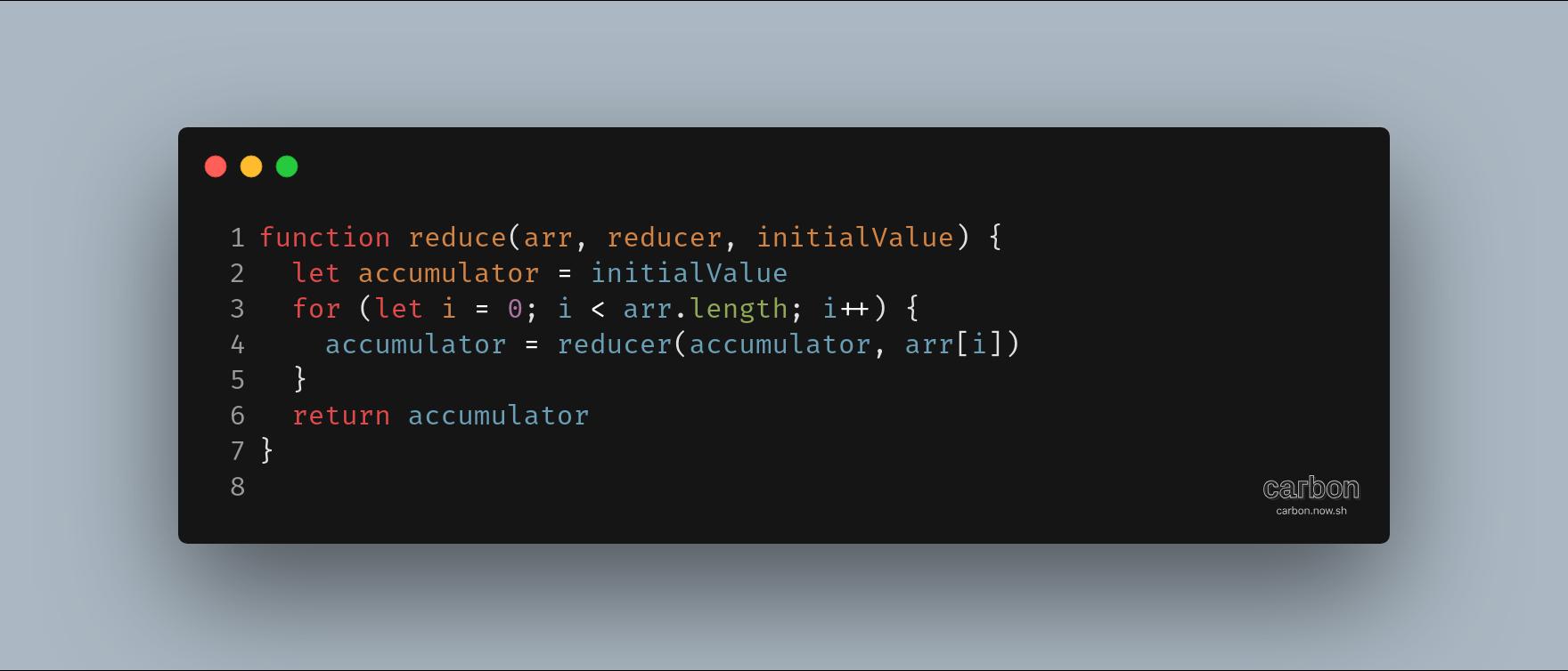 پیاده سازی reduce با جاوااسکریپت خالی خالی :)
