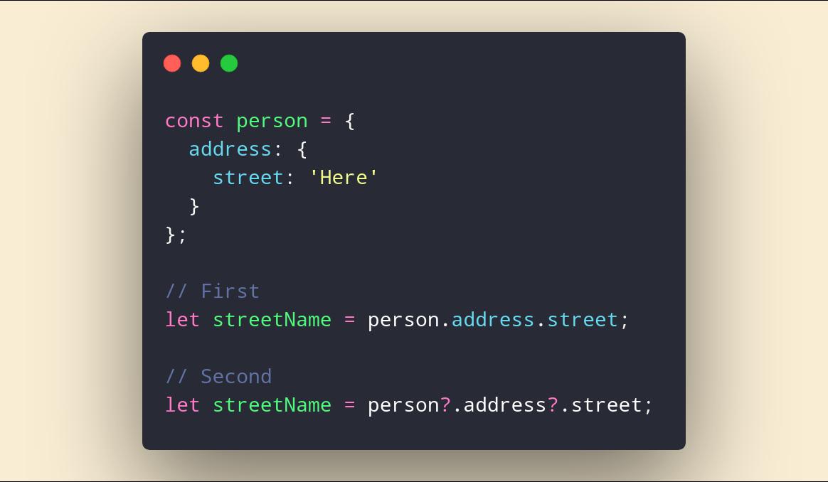 عجایب optional chaining در js