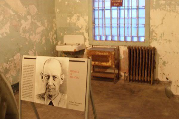 سلول استراد در آلکاترز که در حال حاضر تبدیل به موزه شده