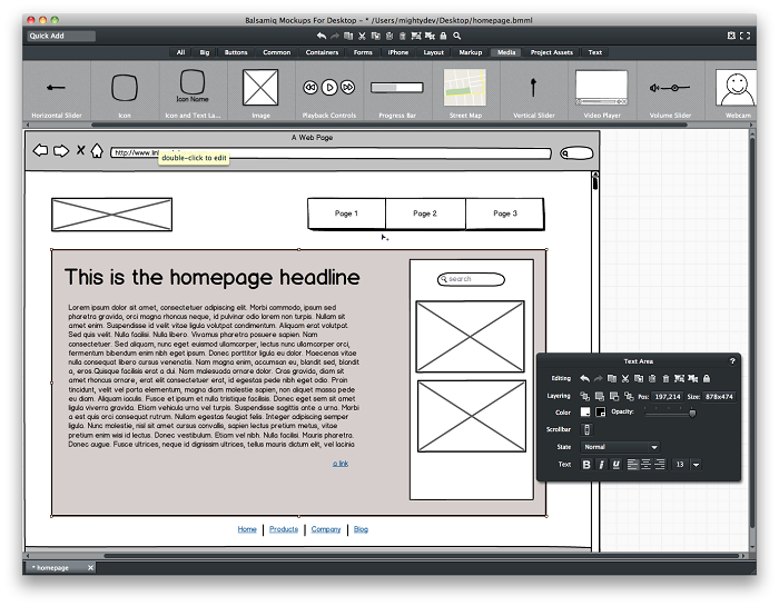 طراحی wireframe یا پیش الگوی طراحی با Balsamiq