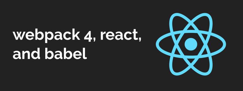 تنظیمات webpack برای پروژه React JS - قسمت اول