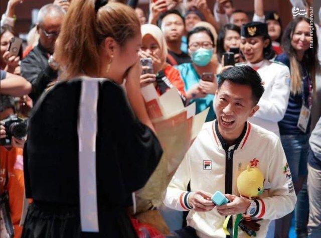 عکس / خواستگاری در بازیهای آسیایی!