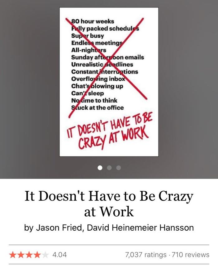 معرفی کتاب : لازم نیست محیط کار دیوانه کننده باشد