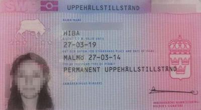 کارت اجازه اقامت سوئد