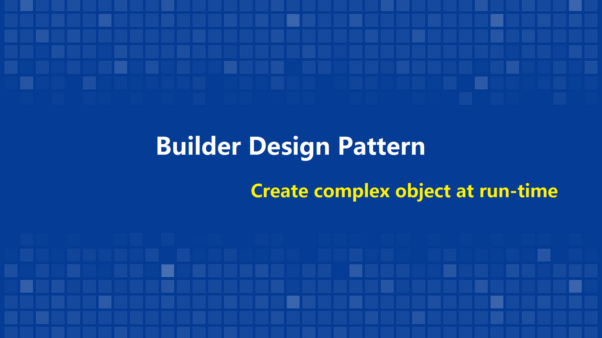 یک فنجان جاوا - دیزاین پترن ها - Builder