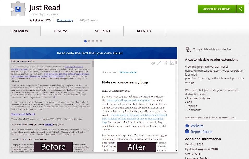 افزونهای جهت مطالعهی آنلاین آسانتر