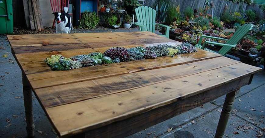 میز قهوه خوری با جایی برای کاشتن گل و گیاه | مبلمان اداری بنکو