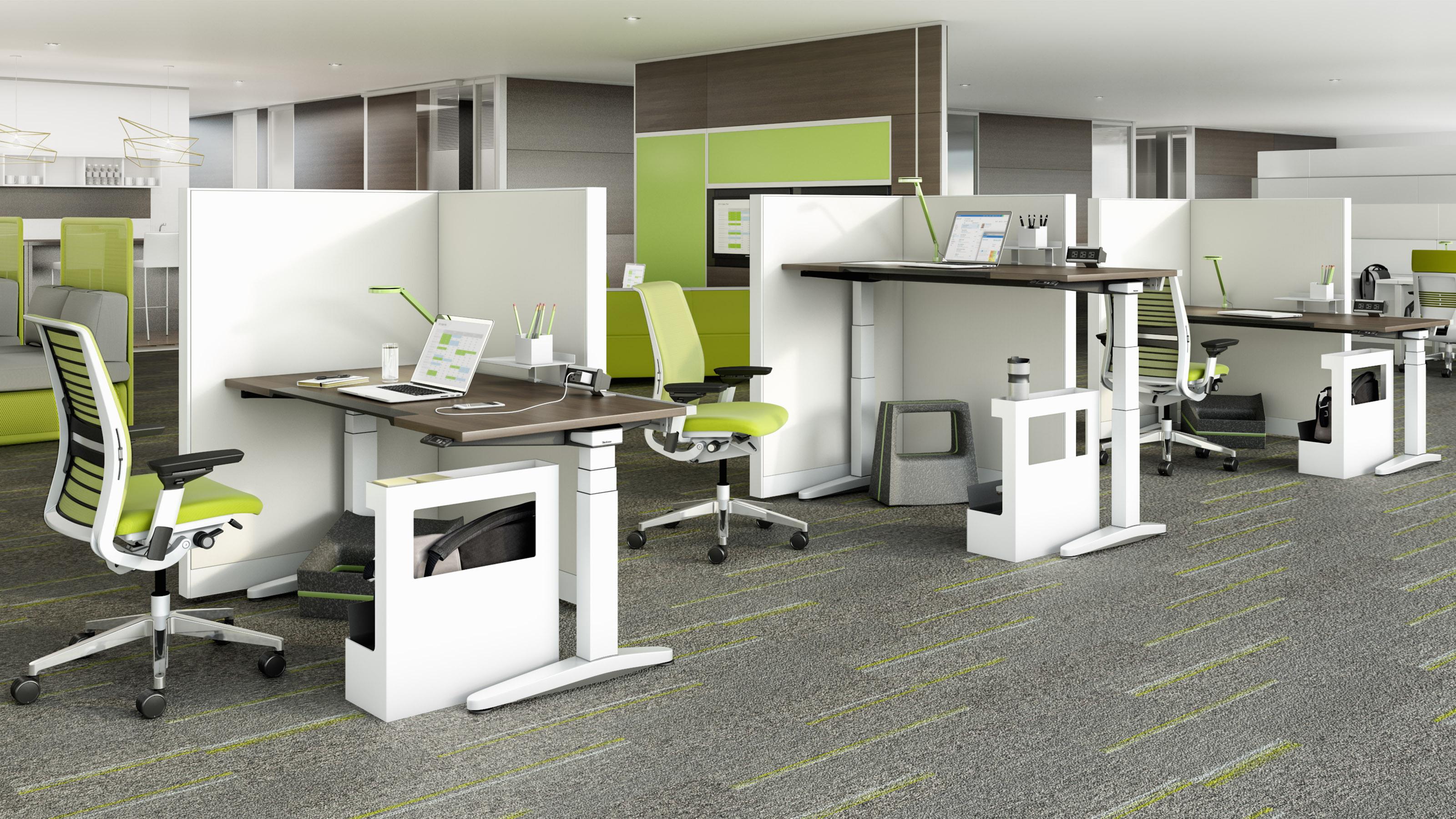 میز اداری مناسب با قابلیت تنظیم ارتفاع