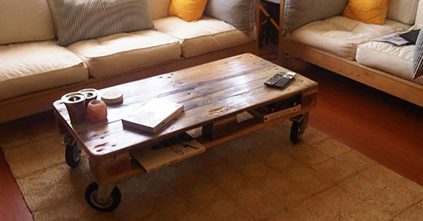 پانزده نوع میز قهوه خوری جالب با پالت
