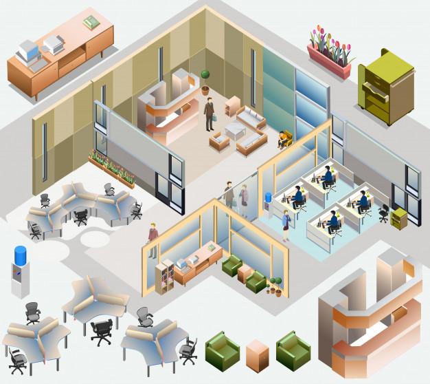 طراحی پارتیشن اداری ـ چگونه یک شرکت را پارتیشن بندی کنیم؟ | مبلمان اداری بنکو | 26100782