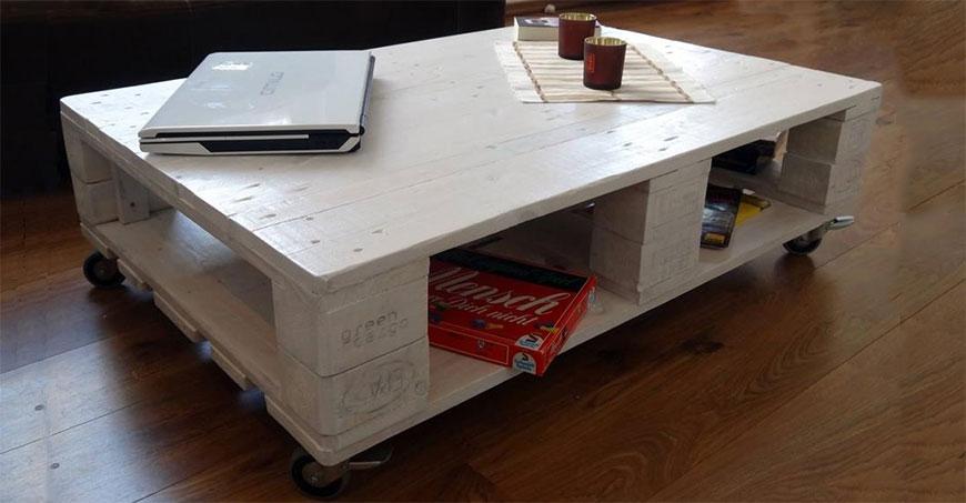 انواع میزهای ساخته شده با پالت | مبلمان اداری بنکو
