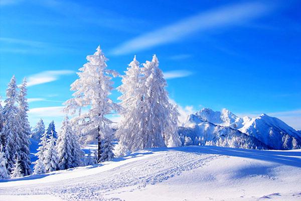 صبح سرد و برفی زمستان