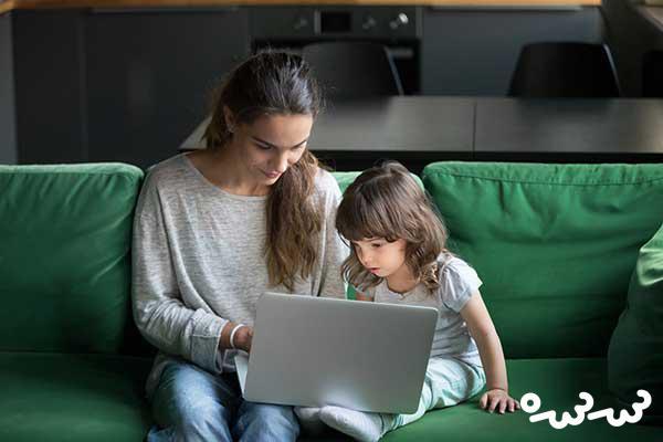 مادران تازه کار در اینترنت