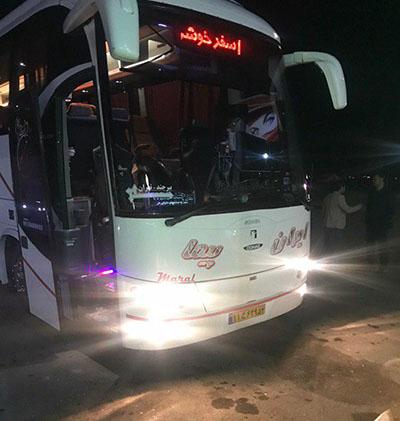 اتوبوس تهران به مخوف ترین کویر ایران