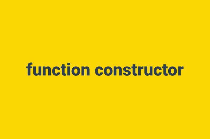 oop js- function constructor