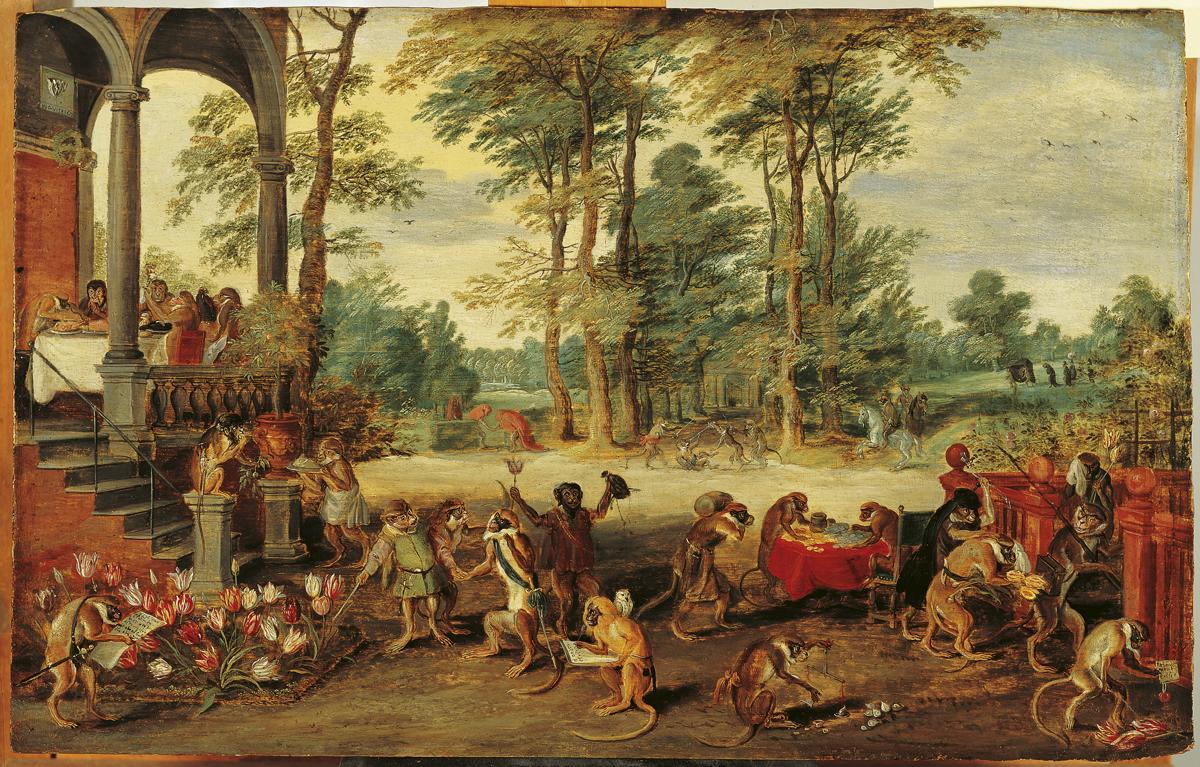 طنز مانیای گل لاله اثر بروگل جوان (حدود ۱۶۴۰)