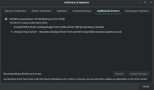 راهاندازی ناموفق درایورکارت گرافیک nvidia در اوبونتو