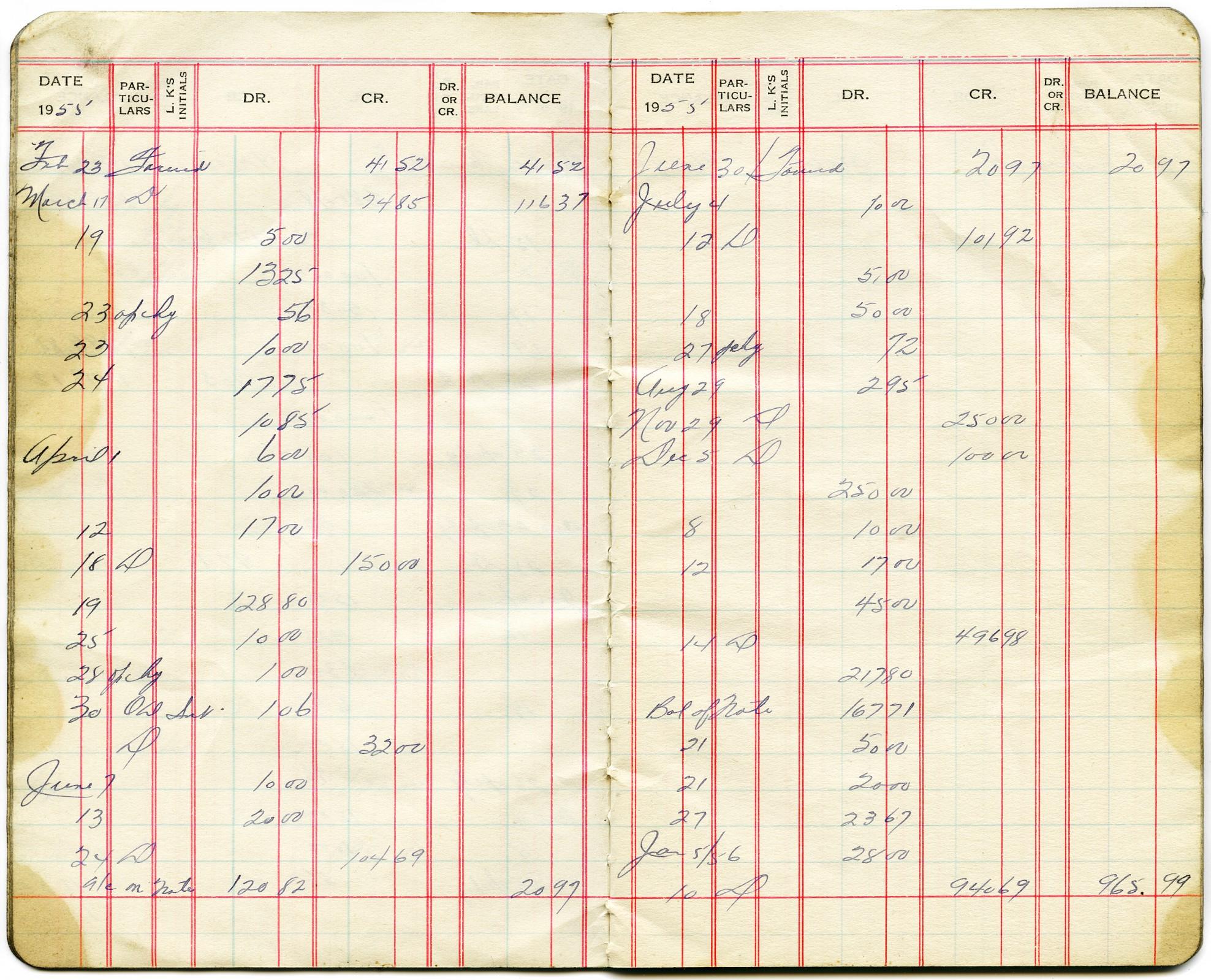 نمونه سنتی سیاهه یا دفترچه حساب که اطلاعات تراکنشهای ۱۰ دقیقه در هر سیاهه نوشته میشود.