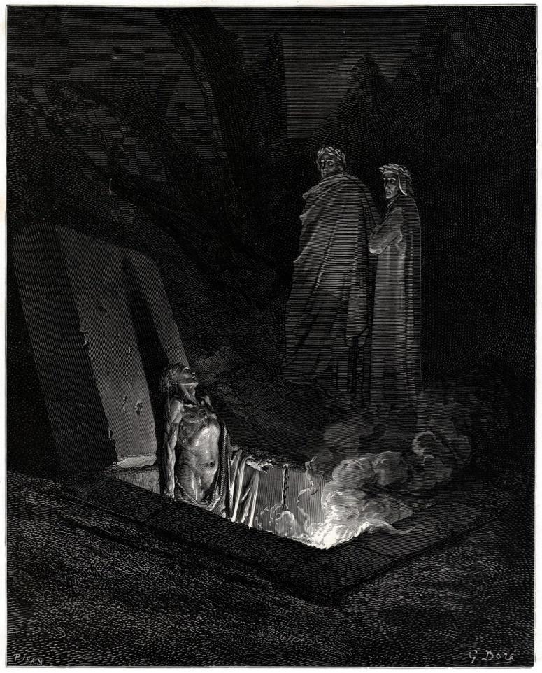 تصویر شماره ۴- Farinata degli Uberti   اثر گوستاو دوره