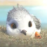 A bird under water