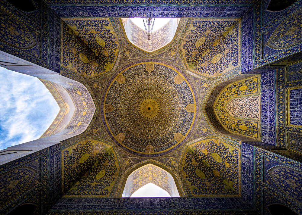 نمای داخلی مسجد شاه اصفهان