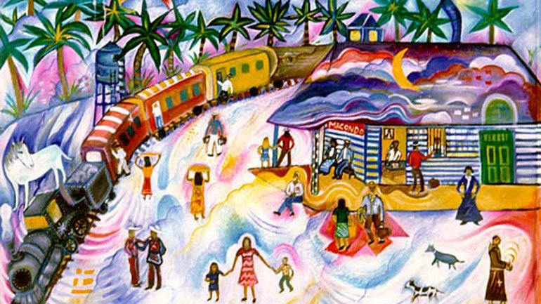 نقاشی ماکوندو، جهان خیالی کتاب صد سال تنهایی؛ رونمایی شده در نمایشگاه کتاب بوگوتا