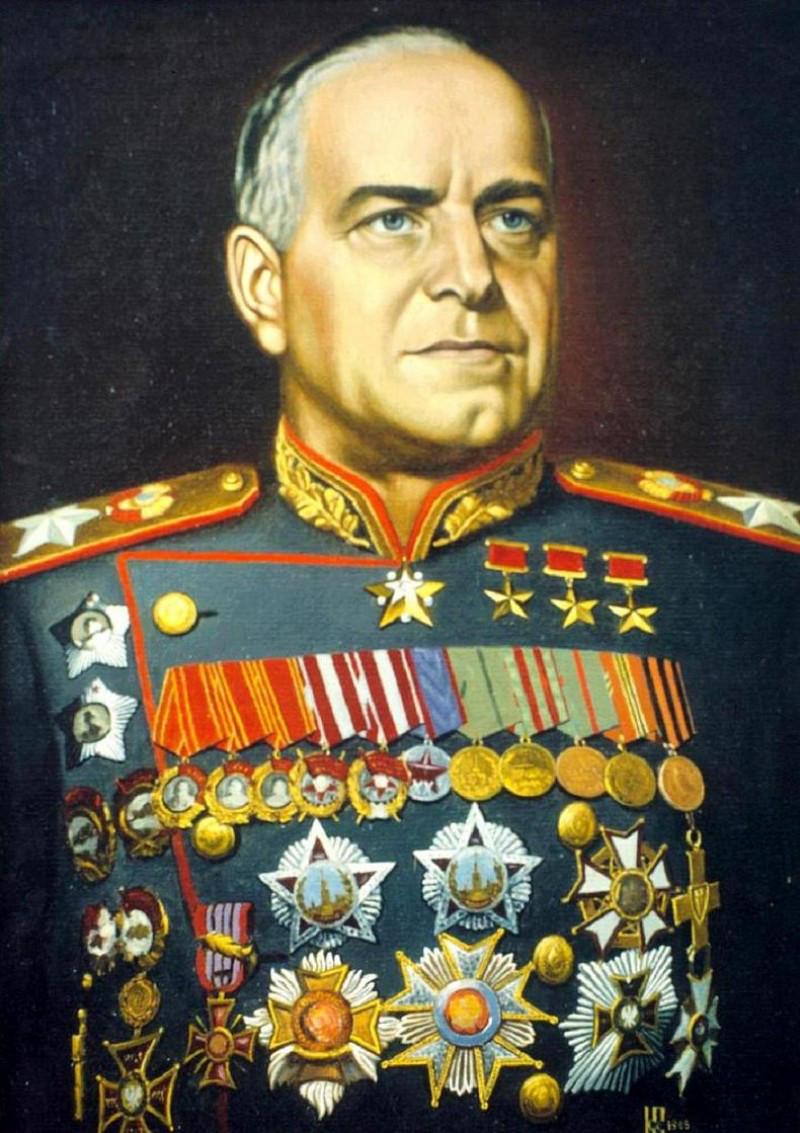 پرترهی ژنرال ژوکف، فرماندهی ارتش سرخ اتحاد شوروی و فاتح برلین - اثر کنستانتین واسیلیف (۱۹۶۸)