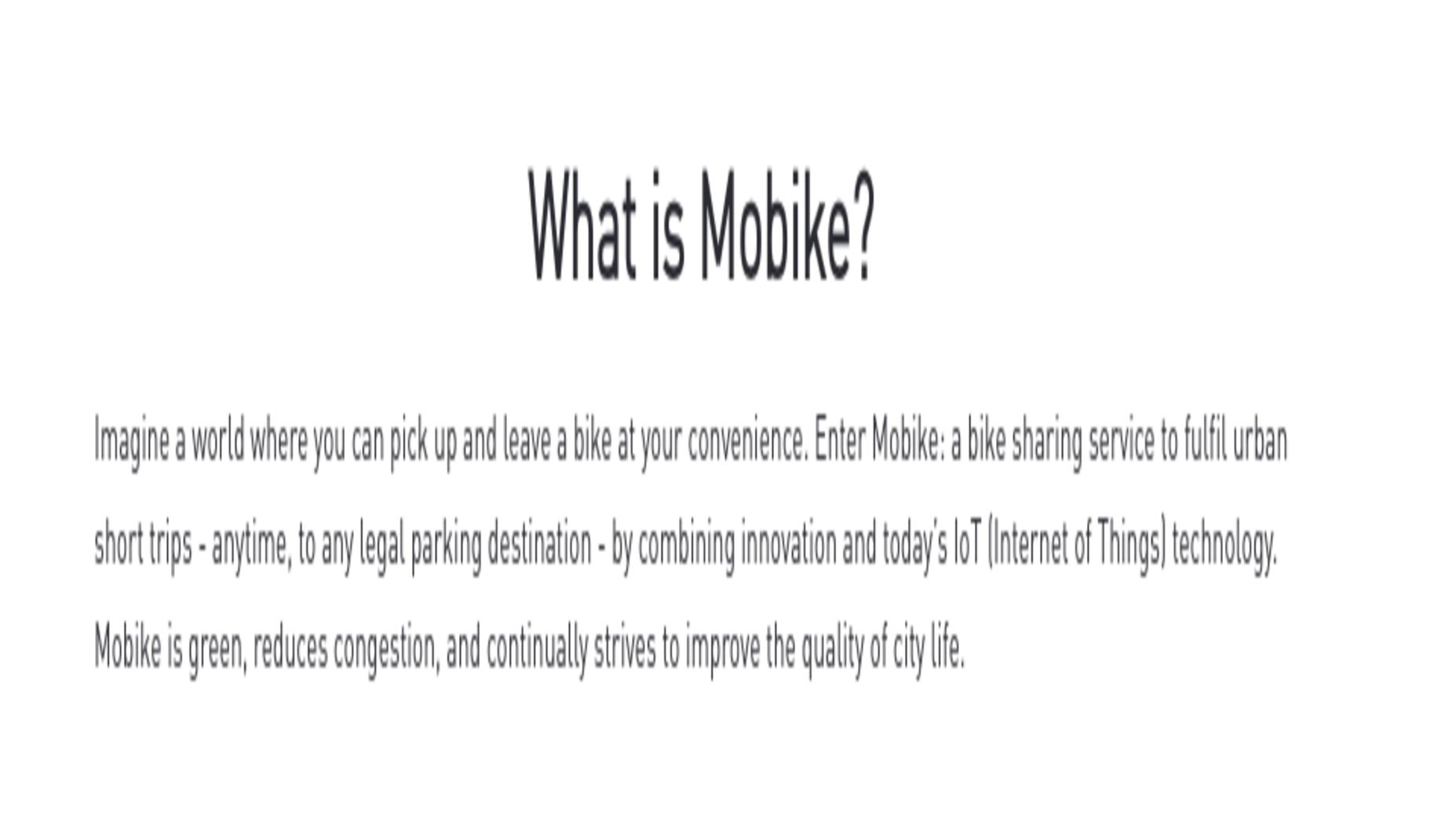 معرفی Mobike