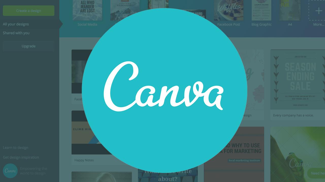 کَنوا (Canva) یک وب سایت خوب برای تنبلها