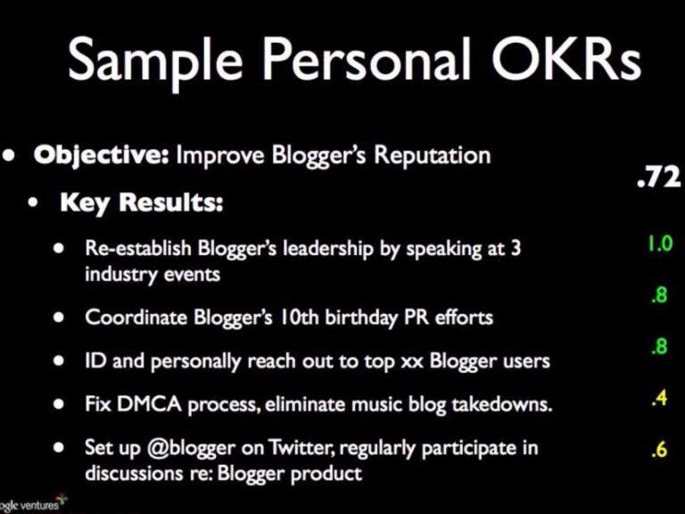 مثال ساده برای OKR