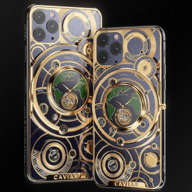 نسخه لوکس آیفون 11 پرو با نیم کیلو طلا در بدنه آن توسط Caviar معرفی شد!